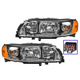 1ALHP00816-2005-09 Volvo S60 Headlight Pair
