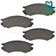 1ABPS00036-Saturn Brake Pads Front