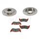 1ABFS01004-Brake Pad & Rotor Kit Rear