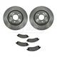 1ABFS01029-Brake Pad & Rotor Kit Front