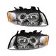 1ALHP00691-Audi A4 A4 Quattro Headlight Pair