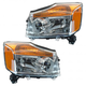 1ALHP00683-2008-15 Nissan Titan Headlight Pair