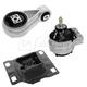 1AEEK00554-2000-04 Ford Focus Engine & Transmission Mount Kit