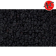 ZAICK03792-1957-58 Chrysler Saratoga Complete Carpet 01-Black