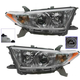 1ALHP00983-2011-13 Toyota Highlander Headlight Pair