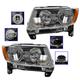 1ALHP00987-2011-13 Jeep Compass (MK) Headlight Pair