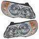 1ALHP00948-2007-10 Hyundai Elantra Headlight Pair