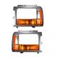 1ALPP00064-1991-96 Dodge Dakota Headlight Bezel with Parking Turn Signal Light Pair