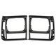 1ALHP00021-Jeep Cherokee Comanche (MJ) Headlight Bezel Pair