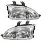 1ALHP00031-1992-95 Honda Civic Headlight Pair