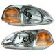 1ALHP00049-1996-98 Honda Civic Headlight Pair