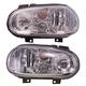 1ALHP00187-Volkswagen Cabrio Golf Headlight Pair