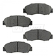 BABPS00007-OE Replacement Brake Pad Set Front Beck / Arnley 089-1442