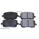 BABPS00005-2003-08 OE Replacement Brake Pad Set Front  Beck / Arnley 089-1697