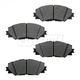 BABPS00020-OE Replacement Brake Pad Set Front Beck / Arnley 089-1786
