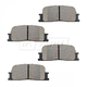 BABPS00025-OE Replacement Brake Pad Set Rear Beck / Arnley 089-1659