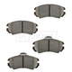 BABPS00026-OE Replacement Brake Pad Set Front Beck / Arnley 089-1706