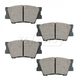 BABPS00023-OE Replacement Brake Pad Set Rear Beck / Arnley 089-1756