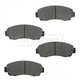 BABPS00024-OE Replacement Brake Pad Set Front  Beck / Arnley 089-1735