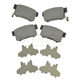 BABPS00014-OE Replacement Brake Pad Set Rear Beck / Arnley 089-1498