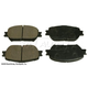 BABPS00017-OE Replacement Brake Pad Set Front Beck / Arnley 089-1657