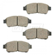 BABPS00012-OE Replacement Brake Pad Set Front Beck / Arnley 089-1453