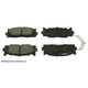 BABPS00019-OE Replacement Brake Pad Set Front Beck / Arnley 089-1758