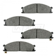 BABPS00046-OE Replacement Brake Pad Set Front Beck / Arnley 089-1296