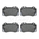 BABPS00032-Mercedes Benz OE Replacement Brake Pad Set Front Beck / Arnley 089-1666
