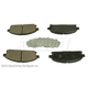 BABPS00039-OE Replacement Brake Pad Set Front  Beck / Arnley 089-1546
