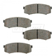 BABPS00057-OE Replacement Brake Pad Set Rear Beck / Arnley 089-1502