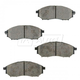 BABPS00089-OE Replacement Brake Pad Set Front Beck / Arnley 089-1689