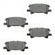 BABPS00087-OE Replacement Brake Pad Set Rear Beck / Arnley 089-1741