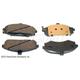BABPS00081-Hyundai Elantra OE Replacement Brake Pad Set Front  Beck / Arnley 089-1707