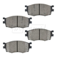 BABPS00079-2006-11 OE Replacement Brake Pad Set Front Beck / Arnley 089-1746