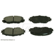 BABPS00078-OE Replacement Brake Pad Set Front  Beck / Arnley 089-1790