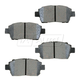 BABPS00070-OE Replacement Brake Pad Set Front Beck / Arnley 089-1621