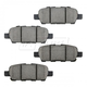BABPS00099-OE Replacement Brake Pad Set Rear Beck / Arnley 089-1832