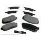 BABPS00102-OE Replacement Brake Pad Set Rear  Beck / Arnley 089-1663
