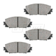 BABPS00100-OE Replacement Brake Pad Set Front  Beck / Arnley 089-1744