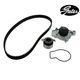 GAEEK00014-Honda Civic Civic Del Sol CRX Timing Belt Kit with Water Pump Gates TCKWP143
