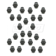 1AWHK00030-Lug Nut Cap Black