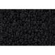 ZAICF02365-1966-67 Dodge Charger Passenger Area Carpet 01-Black