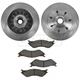 1ABFS00492-Ford Brake Pad & Rotor Kit Front