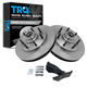 1ABFS00407-Ford Brake Pad & Rotor Kit Front