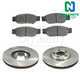1ABFS00414-Brake Kit Front  Nakamoto MD805  XW4Z1125AA