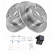 1ABFS00585-Mercedes Benz Brake Pad & Rotor Kit Rear