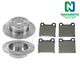1ABFS00586-Mercedes Benz Brake Pad & Rotor Kit Rear Nakamoto MD31  3203