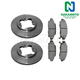 1ABFS00558-Honda Accord Brake Pad & Rotor Kit Front