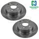 1ABFS00191-Nissan Brake Rotor Rear Pair  Nakamoto 43206-7Y000